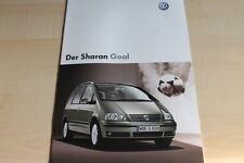132604) VW Sharan Goal Prospekt 01/2004