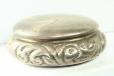 ANTIQUE HINGED STERLING SILVER PATCH BOX PILL BOX