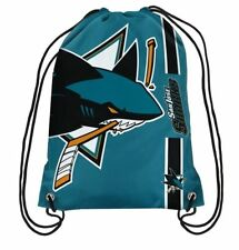 San Jose Sharks Official NHL Big Logo Drawstring Backpack Backsack Bag