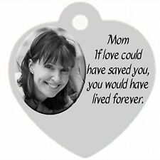 Personalized Custom Heart Pendant Necklace Mom Memorial in memory of Mother