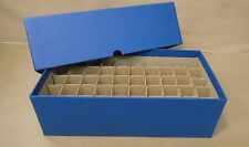 Round or square nickel coin tube storage box blue holds 50 coin tubes