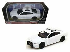 MOTOR MAX 1:24 W/B 2011 DODGE CHARGER PURSUIT ALL WHITE Diecast Car 76934
