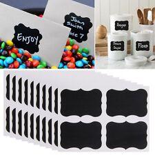 36pcs Mini Chalkboard Blackboard Stickers Decor Craft Kitchen Jar Jam Label Tags