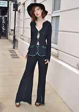 Vintage 1970s Ossie Clark Radley 2 piece trouser and Jacket Judy Beatles Suit m