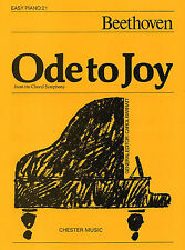 Ode To Joy Easy Piano No.21 Learn to Play Beginner Sheet Music Book