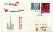 FFC 1983 Swissair First Flight B 747 300 Zurich Boston USA REGISTERED Flughafen