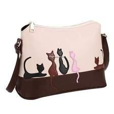Tasche Umhängetasche Damen Handtasche Schultertasche Shopper Bag Katze VE4A