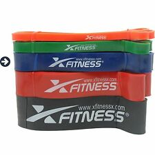 xFitness Pull Up Assist & Resistance Band - #3 Blue - 40-80 lbs Resistance