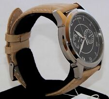 New Mens Analog Watch PIERRE CARDIN RONDE PC105871F03 Date Leather Biege OFFER!