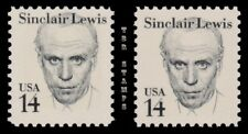 Sinclair Lewis 1856 1856a  Great Americans 14c Tagging Variety Set MNH - Buy Now
