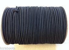 """1/4"""" X 500 FT Bungee Cord Shock Cord Bungie Cord Marine Grade Made in USA!!! BLK"""