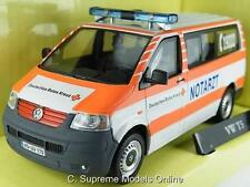 VW T5 AMBULANCE NOTARZT VAN MODEL 1/43RD WHITE/ORANGE COLOUR EXAMPLE T3412Z(=)