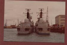 HMS Cardiff & Exeter   photograph  qc.270