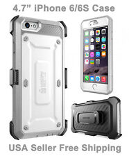 Genuine iPhone 6/6S Supcase Unicorn Beetle Full Body Rugged Holster Case Gray