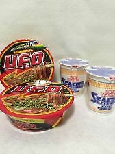 NISSIN Cup Noodle Seafood x2 Yakisoba UFO x2 Japanese Food Instant Ramen