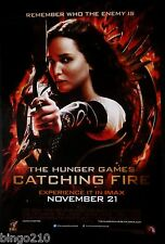 THE HUNGER GAMES CATCHING FIRE ORIGINAL 2013 1 SHEET POSTER JENNIFER LAWRENCE