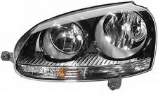 VW Golf Mk5 Jetta Mk3 2004- black headlight PAIR SET Left and Right HELLA