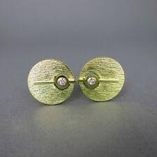 Goldene Manschettenknöpfe mit Brillanten