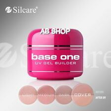 Base One Cover 5g UV Gel Nails Camouflage Builder French Nails File Off Silcare