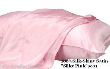 100%SILK-PILLOW CASE Two-Luxury*PremiumXHigh End 25m*Silky Pink,Rejuventate*BR