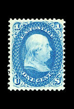 Framed Print - Benjamin Franklin Z-Grill Stamp 1868 Valued at $2,970,000 Picture
