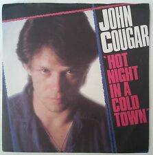 "John Cougar Mellencamp Hot Night In A Cold Town Single 7"" UK 1980"