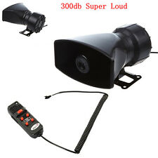 12V 60W Car Truck Electric Air Horn Siren Speaker 5 Sound Tone Super Loud 300db