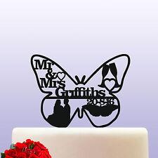 Farfalla Personalizzata Sposa e Sposo Acrilico bomboniera wedding cake topper