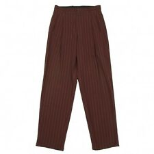 Jean Paul GAULTIER HOMME Wool stripe tuck pants Size 50(K-26561)
