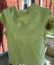 Bhs ladies top size 14 green