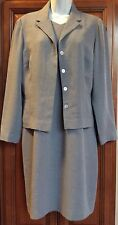 Talbot's Petite's Gray Dress with Matching Jacket ~ Women's Size 12P