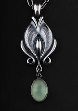 GEORG JENSEN Sterling Silver Pendant Of The Year 2012 with Prehnite. NEW!