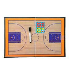 Foldable Magnetic Basketball Court Coach Coaching Board Dry Erase Clipboard +Pen