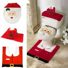 Happy Santa Claus Toilet Covers Dinner Decor Christmas Decorations Party Tools