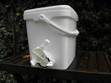 Two 15lt Rectangle (shape) Honey Storage Buckets (one with valve)