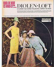 PUBLICITE ADVERTISING 114 1964 DIOLEN-LOFT le Jersey