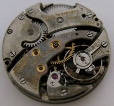 used Paul Ditisheim ... round incomplete watch movement 17 j. 2 adj. for parts