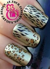 NAIL ART WATER TRANSFERS STICKERS ANIMAL PRINT LEOPARD SPOTS TIGER STRIPES #96