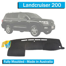 TO FIT: Toyota Landcruiser 200 Series (2007-10/2015)- Dash Mat -Charcoal-Moulded