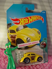 VOLKSWAGEN BEETLE #172☆Yellow VW BUG;5sp☆TOONED☆New 2017 i Hot Wheels case H