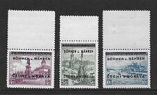 Böhmen&Mähren stamps 1939 MI 17LS-19LS signed Dr.Dub  MNH  CAT V $475