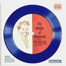 VINTAGE 1969 THE PLEDGE OF ALLEGIANCE ~ READ BY RED SKELTON FLEXI DISC RECORD