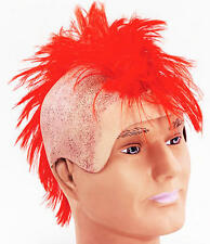 Punk Rocker Mohican Wig Large Red Hair Johnny Rotten Fancy Dress