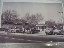 1950 'S FORD USED CAR LOT GLENSIDE PA  GIMBEL HOPKINS 11 X 17  PHOTO /  PICTURE