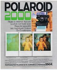 PUBLICITE ADVERTISING 104 1977 POLAROID 2000 appareil photo