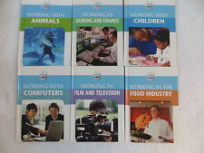 Lot of 6 MY FUTURE CAREER Working With Animals Children Computers Banking Food