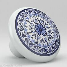 Round Talavera Design Ceramic Knobs Pulls Kitchen Drawer Cabinet Dresser 1203