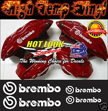 BREMBO BRAKE CALIPER HIGH TEMP Stickers Decals Suit JDM Turbo EVO All COLOURS