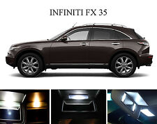 Xenon White Vanity / Sun visor  LED light Bulbs for Infiniti FX 35 FX 45 (4 Pcs)