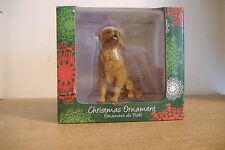 ~GOLDEN RETRIEVER SANDICAST CHRISTMAS ORNAMENT~NEW~